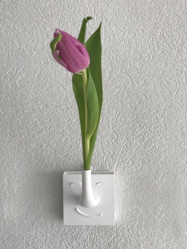 deMINIfabriek 3D print FDM Bloemvaasje muur