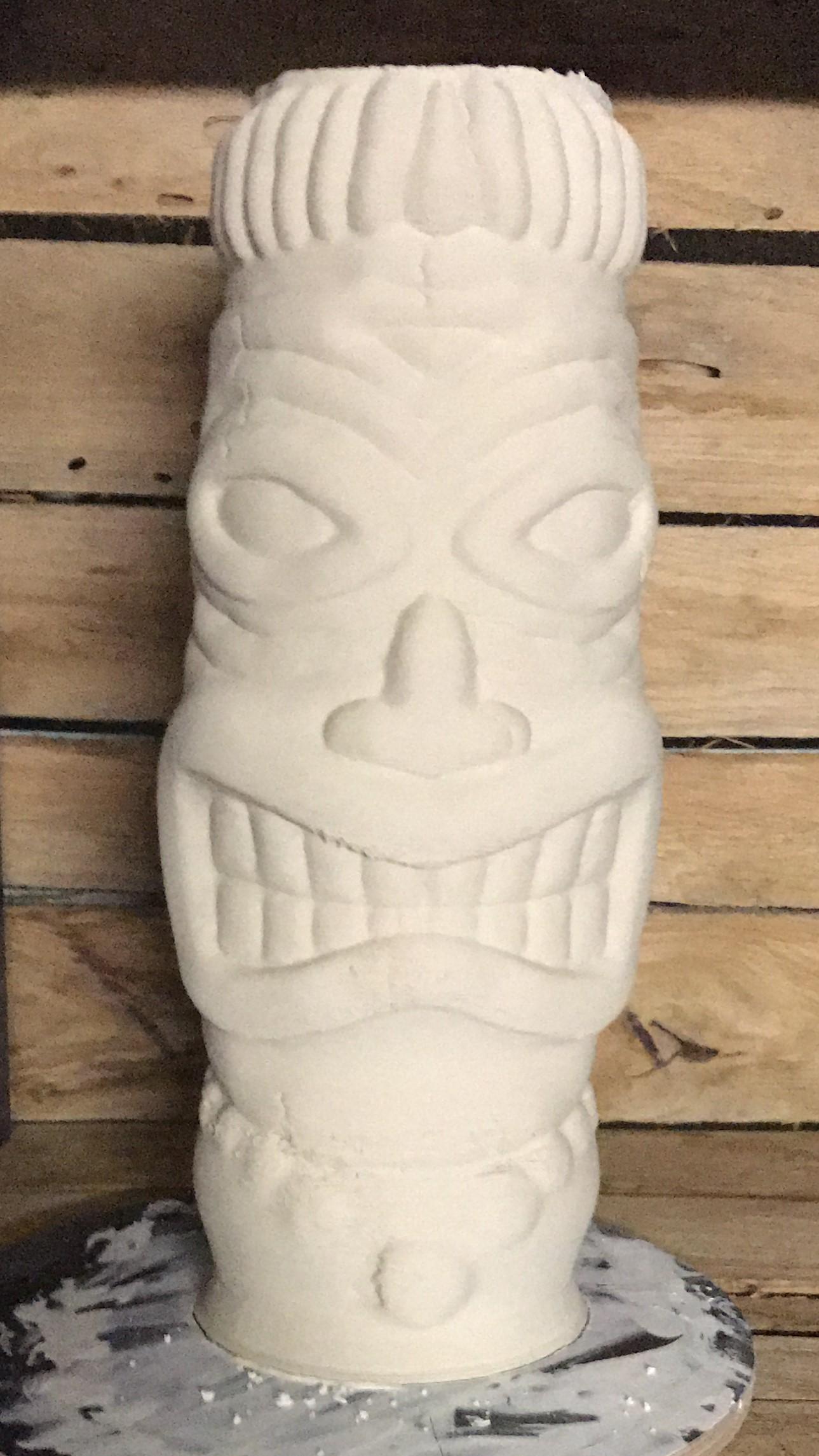 deMINIfabriek 3D print LDM tiki beeld porcelein